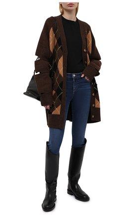 Женские джинсы EMPORIO ARMANI темно-синего цвета, арт. 3K2J28/2DG6Z   Фото 2