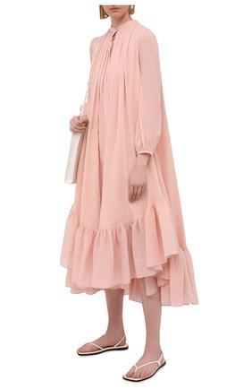 Женское хлопковое платье ALEXANDER MCQUEEN светло-розового цвета, арт. 657429/QAAAZ | Фото 2