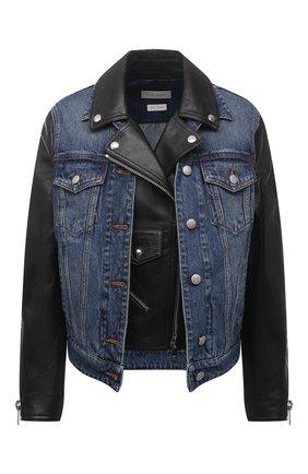 Женская кожаная куртка ALEXANDER MCQUEEN черного цвета, арт. 659836/Q5AGD | Фото 1