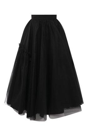 Женская юбка ALEXANDER MCQUEEN черного цвета, арт. 659364/QEACR | Фото 1