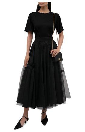 Женская юбка ALEXANDER MCQUEEN черного цвета, арт. 659364/QEACR | Фото 2