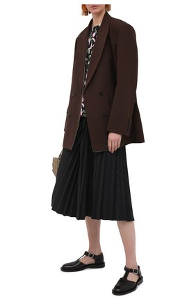 Женская плиссированная юбка MARNI черного цвета, арт. G0MA0362F0/TP690 | Фото 2