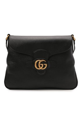 Женская сумка dahlia medium GUCCI черного цвета, арт. 648933/1U10T   Фото 1 (Сумки-технические: Сумки через плечо; Размер: medium; Ремень/цепочка: На ремешке; Материал: Натуральная кожа)