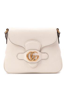 Женская сумка dahlia small GUCCI белого цвета, арт. 648934/1U10T   Фото 1