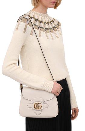 Женская сумка dahlia small GUCCI белого цвета, арт. 648934/1U10T   Фото 2