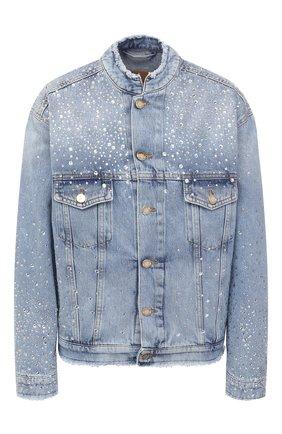 Женская джинсовая куртка ALEXANDRE VAUTHIER голубого цвета, арт. 211JA1400B 1421B-211 | Фото 1