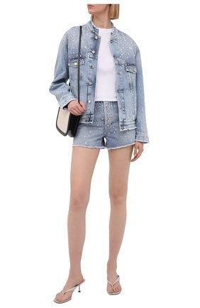 Женская джинсовая куртка ALEXANDRE VAUTHIER голубого цвета, арт. 211JA1400B 1421B-211 | Фото 2