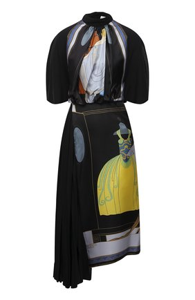 Женское шелковое платье LANVIN черного цвета, арт. RW-DR353I-4847-P21 | Фото 1