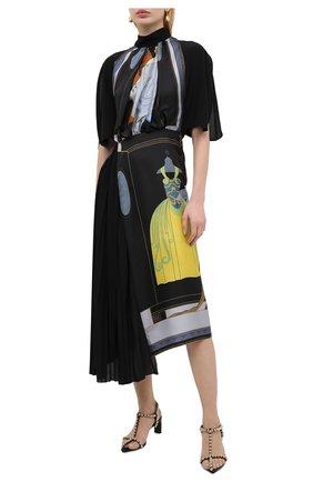 Женское шелковое платье LANVIN черного цвета, арт. RW-DR353I-4847-P21 | Фото 2