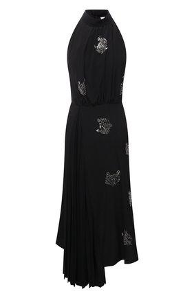 Женское шелковое платье LANVIN черного цвета, арт. RW-DR337X-4868-P21 | Фото 1