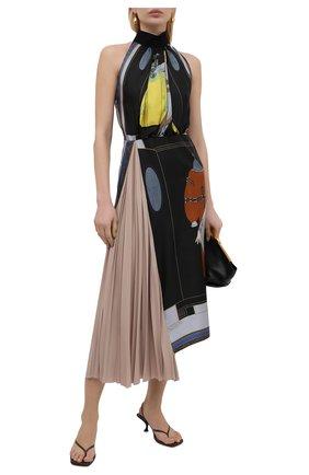 Женское шелковое платье LANVIN разноцветного цвета, арт. RW-DR337I-4844-P21 | Фото 2