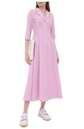 Женское хлопковое платье WEILL розового цвета, арт. 145105 | Фото 2