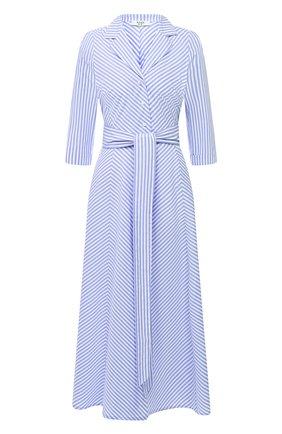 Женское хлопковое платье WEILL голубого цвета, арт. 145105 | Фото 1