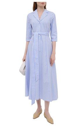 Женское хлопковое платье WEILL голубого цвета, арт. 145105 | Фото 2