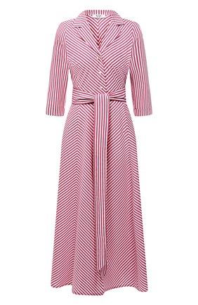 Женское хлопковое платье WEILL красного цвета, арт. 145105 | Фото 1