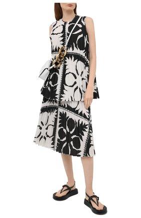 Женская плиссированная юбка REDVALENTINO черно-белого цвета, арт. VR0RAF95/5SA | Фото 2
