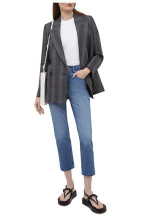 Женские джинсы AMI синего цвета, арт. E21FD010.601 | Фото 2
