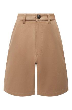 Женские хлопковые шорты AMI бежевого цвета, арт. E21FT701.280 | Фото 1