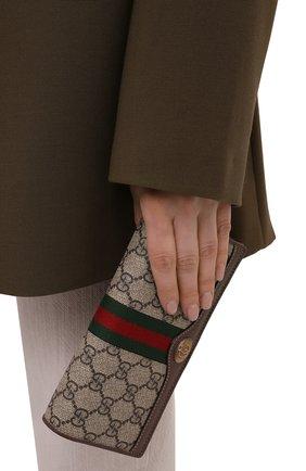 Женская сумка ophidia GUCCI бежевого цвета, арт. 546592/96IWS   Фото 2