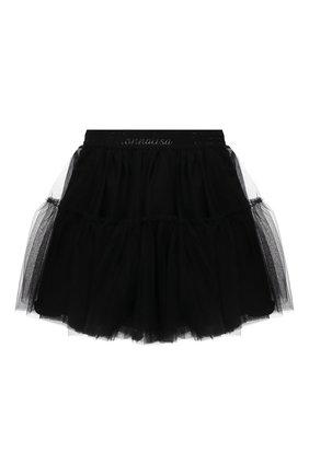 Детская юбка MONNALISA черного цвета, арт. 177GON | Фото 1