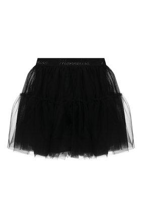 Детская юбка MONNALISA черного цвета, арт. 177GON | Фото 2