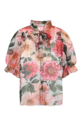 Детское шелковая блузка DOLCE & GABBANA разноцветного цвета, арт. L54S94/IS1FT/8-14 | Фото 1