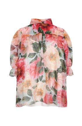 Детское шелковая блузка DOLCE & GABBANA разноцветного цвета, арт. L54S94/IS1FT/8-14 | Фото 2