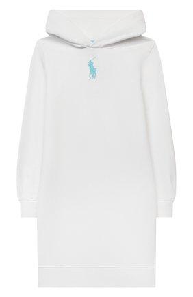 Детское хлопковое платье POLO RALPH LAUREN белого цвета, арт. 313837221 | Фото 1