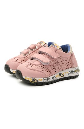 Детские кожаные кроссовки PREMIATA WILL BE розового цвета, арт. LUCY V/12-21389/T0D | Фото 1
