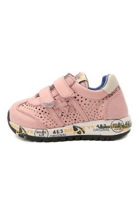Детские кожаные кроссовки PREMIATA WILL BE розового цвета, арт. LUCY V/12-21389/T0D | Фото 2