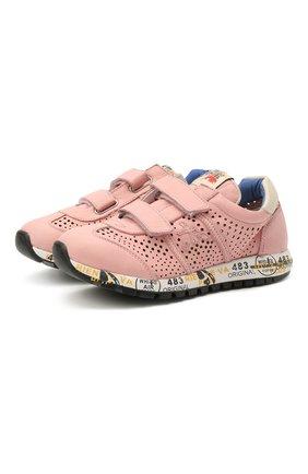 Детские кожаные кроссовки PREMIATA WILL BE розового цвета, арт. LUCY V/12-21389/CHILD | Фото 1