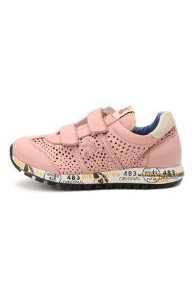 Детские кожаные кроссовки PREMIATA WILL BE розового цвета, арт. LUCY V/12-21389/CHILD | Фото 2