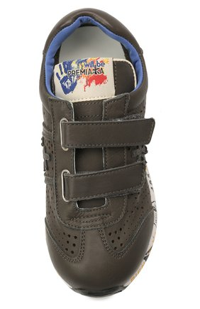 Детские кожаные кроссовки PREMIATA WILL BE серого цвета, арт. LUCY V/12-21462/CHILD | Фото 4 (Материал внутренний: Натуральная кожа)