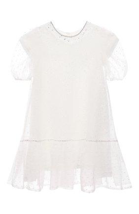 Детское платье DESIGNERS CAT белого цвета, арт. 100000K01000752/4A-8A | Фото 1