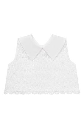 Детское хлопковое платье DESIGNERS CAT белого цвета, арт. 100000K01000739/10A-12A | Фото 2