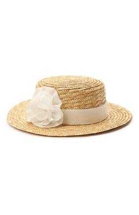 Детская шляпа DESIGNERS CAT бежевого цвета, арт. 100000K01000731/50-54 | Фото 1