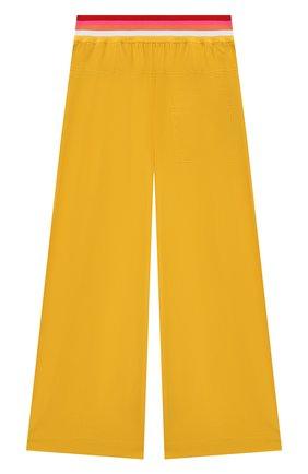 Детские хлопковые брюки FENDI желтого цвета, арт. JFF225/AAC3/8A-12+ | Фото 2