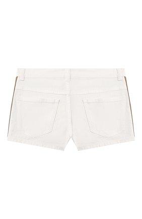 Детские джинсовые шорты FENDI белого цвета, арт. JFF224/AEX0/8A-12+ | Фото 2