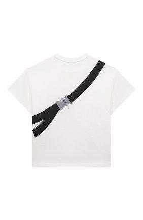 Детская хлопковая футболка FENDI белого цвета, арт. JMI333/7AJ/8A-12+   Фото 2