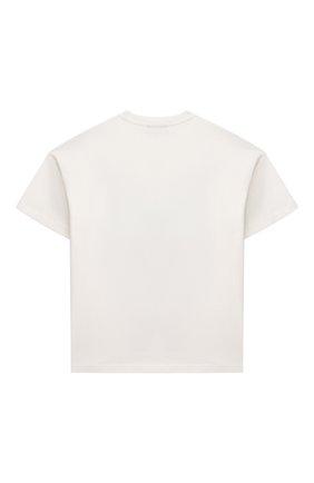 Детская хлопковая футболка FENDI белого цвета, арт. JMI358/7AJ/3A-6A   Фото 2