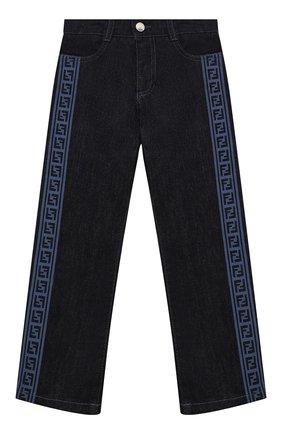 Детские джинсы FENDI темно-синего цвета, арт. JUF033/AEY3/3A-6A   Фото 1
