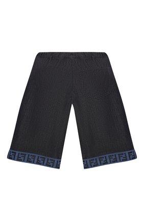 Детские хлопковые шорты FENDI темно-синего цвета, арт. JUF034/AEY4/3A-6A   Фото 2
