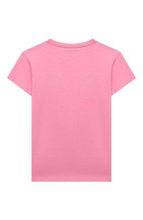 Детская хлопковая футболка CHIARA FERRAGNI розового цвета, арт. 21PE-CFKT031 | Фото 2
