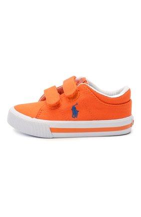 Детские текстильные кеды POLO RALPH LAUREN оранжевого цвета, арт. 12-RF102964/T0DDLER   Фото 2