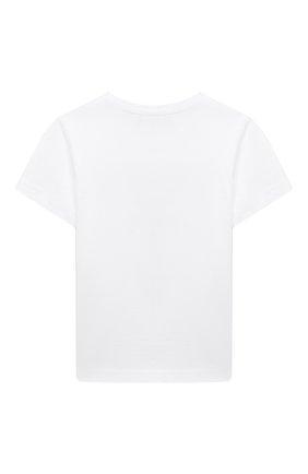 Детская хлопковая футболка DSQUARED2 белого цвета, арт. DQ0154-D00MQ | Фото 2