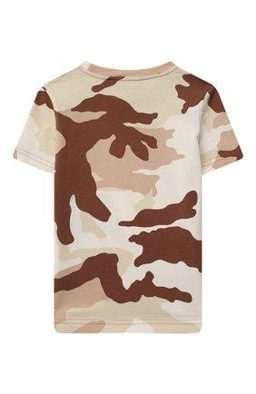 Детская хлопковая футболка DSQUARED2 коричневого цвета, арт. DQ0253-D006B   Фото 2