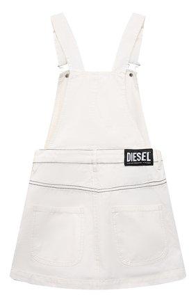 Детское джинсовый сарафан DIESEL белого цвета, арт. J00040-0TATF | Фото 2