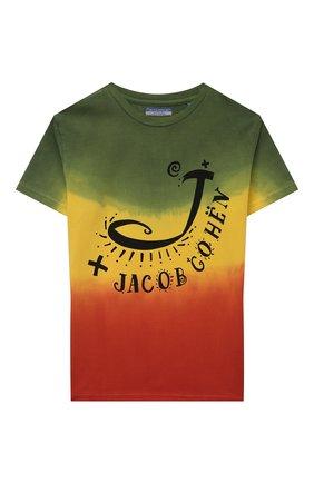 Детская хлопковая футболка JACOB COHEN разноцветного цвета, арт. J4043 J-80003-V   Фото 1