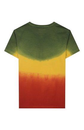 Детская хлопковая футболка JACOB COHEN разноцветного цвета, арт. J4043 J-80003-V   Фото 2