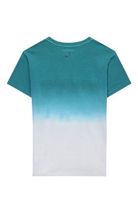 Детская хлопковая футболка JACOB COHEN бирюзового цвета, арт. J4018 J-80003-V   Фото 2